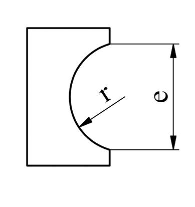 GEKA separat afrundings form
