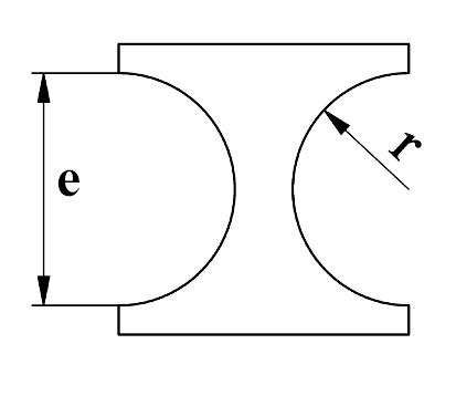 GEKA Separat radius stempel, dobbelsidet form