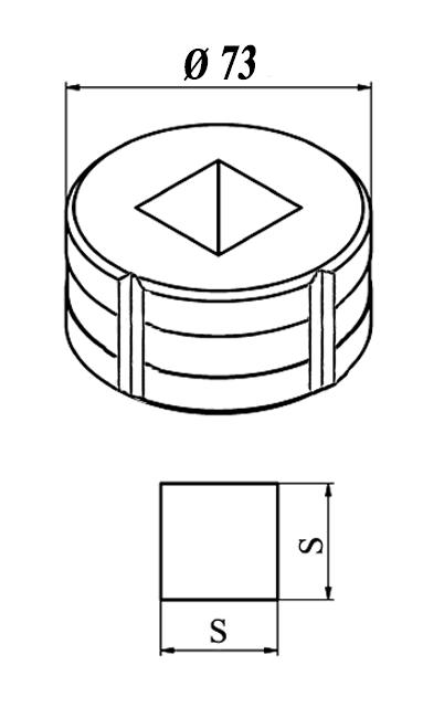 GEKA Firkant matrice Nr. 10