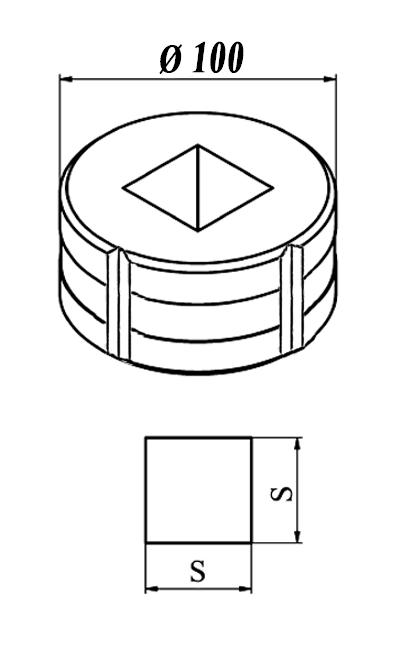 GEKA Firkant matrice Nr. 12