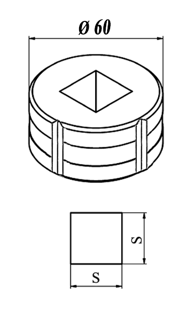 GEKA Firkant matrice Nr. 8