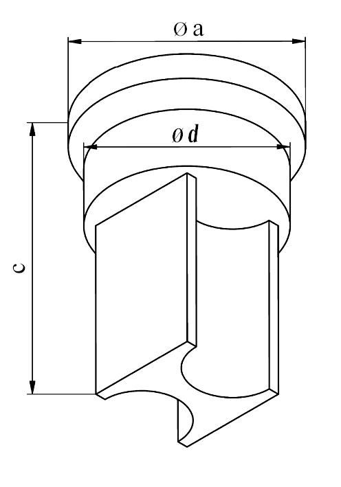 GEKA Separat radius stempel, dobbelsidet
