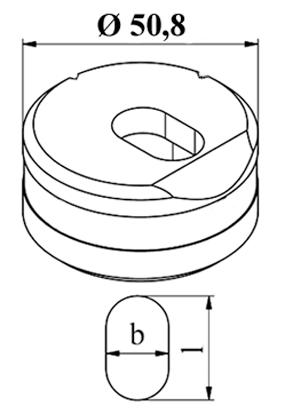 GEKA Oval vinkel matrice Langs Nr. 5 E
