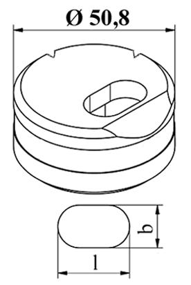 GEKA Oval vinkel matrice tværs Nr. 5 E