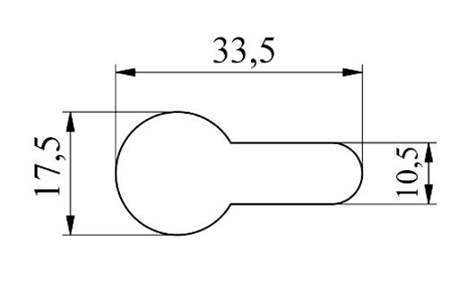 MUBEA Nøglehuls form