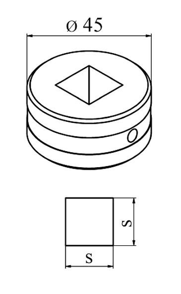 MUBEA Firkant matrice Nr. 45