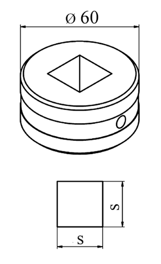 MUBEA Firkant matrice Nr. 60