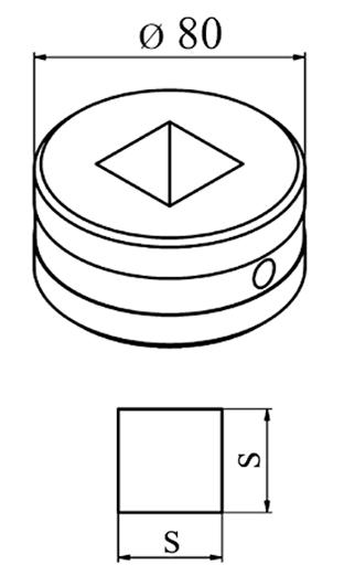 MUBEA Firkant matrice Nr. 80