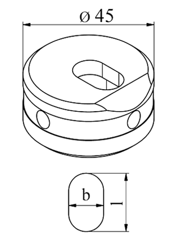 MUBEA Oval vinkel matrice- Langs, Nr. 45 E