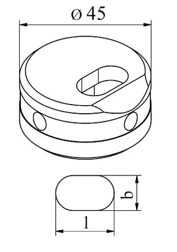 MUBEA Oval vinkel matrice - Tværs Nr. 45 E